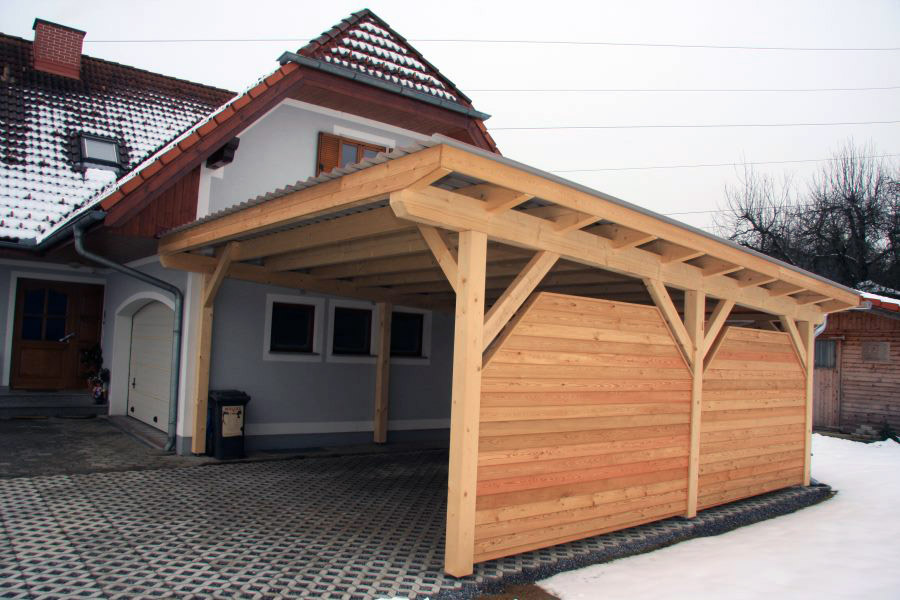 das passende carport vom steirischen holzbau meister. Black Bedroom Furniture Sets. Home Design Ideas